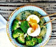 Egg and broccoli soup
