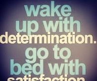 determination and satisfaction