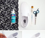 DIY Lace Shoe Makeover