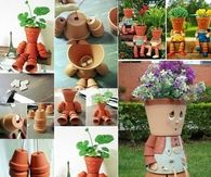 How To Make Garden Pot People