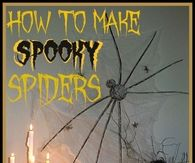 How to make spooky spiders