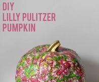 DIY Lilly Pulitzer Pumpkin