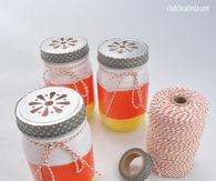 Candy Corn Mason Jar Luminaries