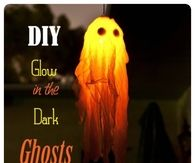 DIY Glow in the Dark Ghosts
