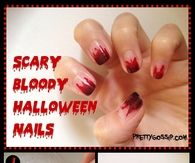 Diy Scary Bloody Halloween Nails