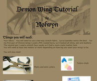 Demon Wings Tutorial