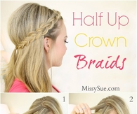 DIY Half Up Crown Braids