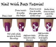 DIY Bat Nails