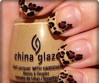 DIY Leopard Nails