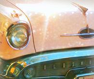 Vintage Pink Oldsmobile