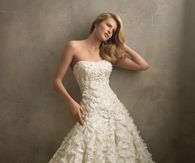 Strapless Ruffled Vintage Wedding Gown