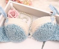 Pretty Blue & White Lingerie