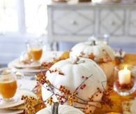 White Pumpkins Centerpiece