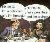 Honest vs Virgin and Politician vs Prostitute!!