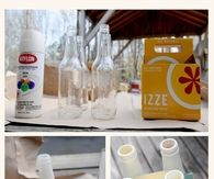 DIY Spray Painted Bottle Craft