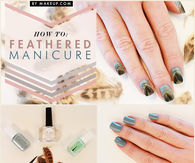 DIY Feathered Manicure