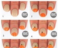 DIY Pumpkin Nails