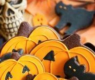 Pumpkin, Ghosts & Black Cat Cookies