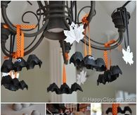 How To Make Halloween Bats From Egg Cartons