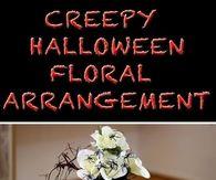 DIY Halloween Floral Arrangement