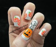 Snoopy Halloween Nail Art