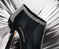 Oscar de la Renta Ankle Boots with Bling