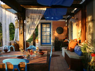 Colorful Covered Patio