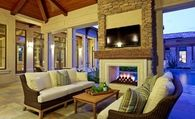 Outdoor Room with Fireplace & TV