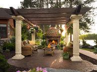 Gorgeous Patio with Pergola & Fireplace