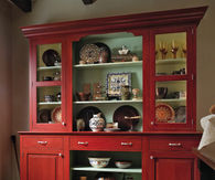 European Red Country Hutch