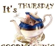 It's Thursday Good Morning!