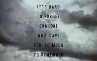 its hard to forget someone