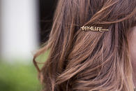 DIY Wordy Hairpins