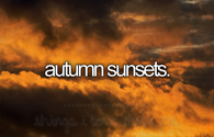 Autumn sunsets