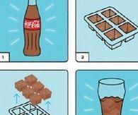 Coca Cola Ice Cubes