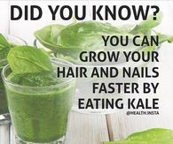 Kale helps nails and hair grow
