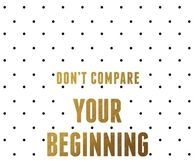 Don't compare yourself