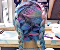 Colorful Braided Hair