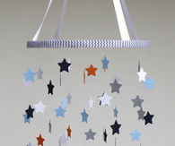 Star baby crib mobile