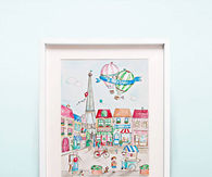 Nursery watercolor art print