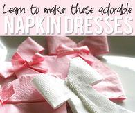 Napkin dresses