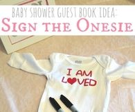 Sign the onesie guestbook idea