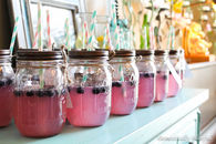 Mason jar baby shower drinks