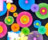 Neon Party Wall Fans