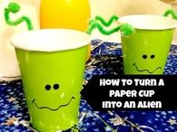 DIY Paper cup into an alien