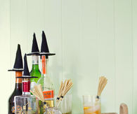 Witch hat bottle toppers