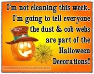 I'm not cleaning this week