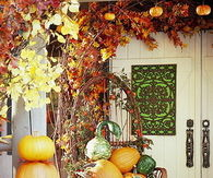 Nicely Fall Decorated Front Porch