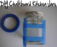 DIY Chalkboard Kitchen Jars