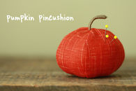 Pumpkin pincushion
